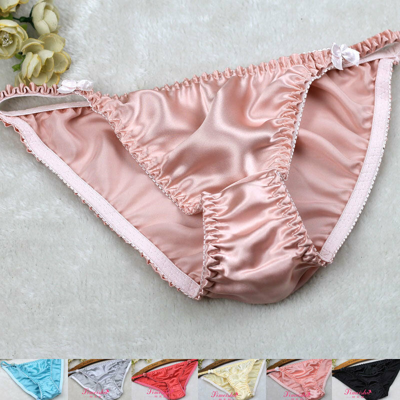 0fcaf26de3 Details about 6 Pairs 100% Women s 100% Silk String Bikini underwear  Panties S M L XL XXL