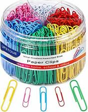 Paper Clips Medium And Jumbo Paper Clips Durable And Rustproof Coated Large P