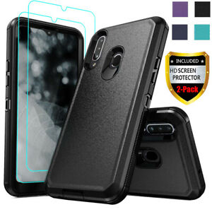 For-Samsung-Galaxy-A20S-A20-Case-Shockproof-Hybrid-Armor-Cover-HD-Tempered-Glass
