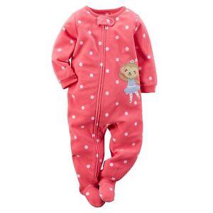2fc2937d3 Carter's NWT 2T Girl Monkey PJ Fleece Footed Pajama Blanket Sleeper ...