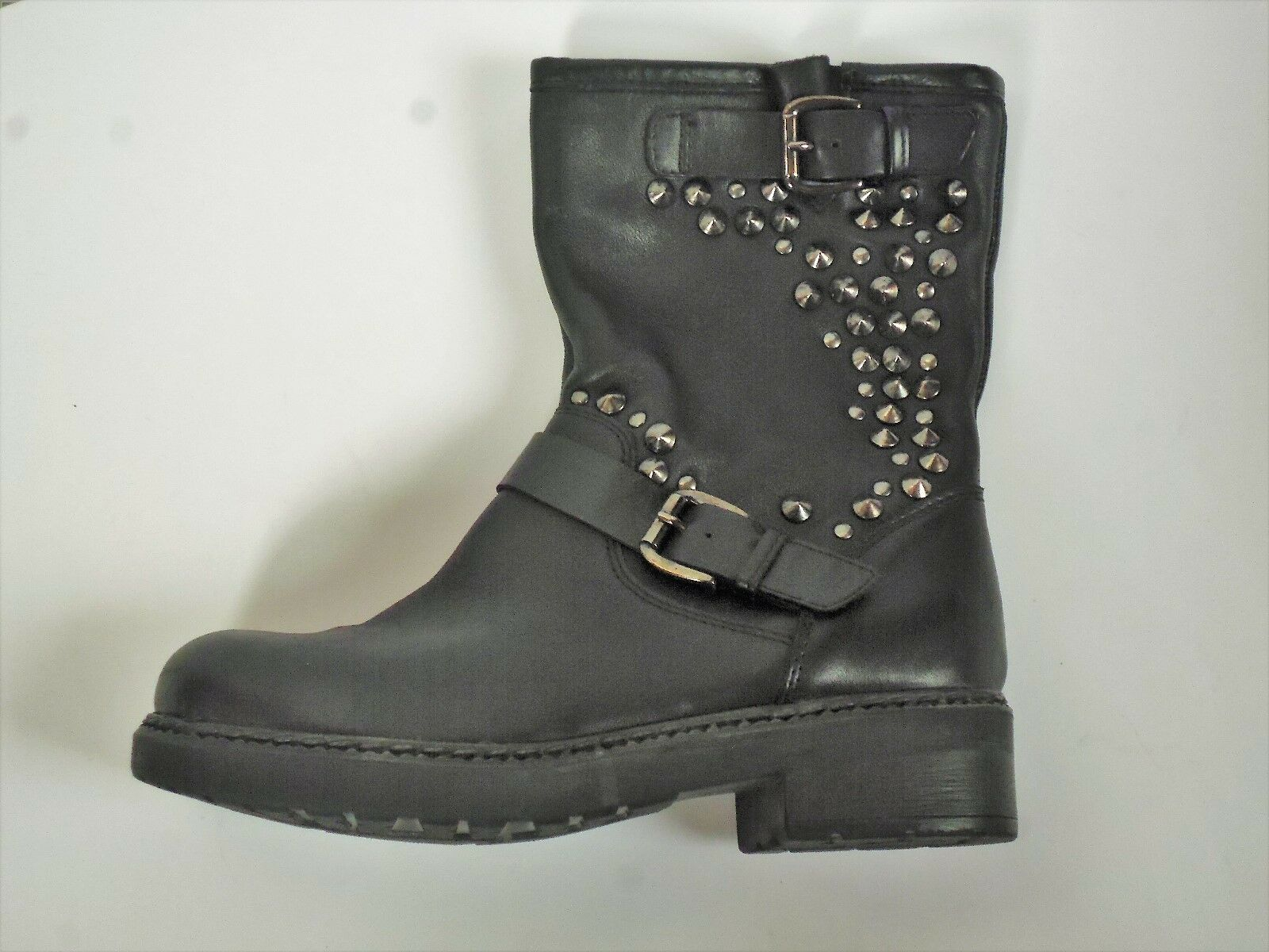 Ladies Clarks Stiefel with studs Langport Piper Piper Piper Damenss Größe 4 D Leder bikers c2ef8f