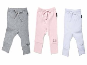 BONDS Baby Girl Cotton Newbies Rib Legging Leggings Pink White 0000 000 00 0 1