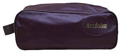 Acclaim Clwyd Zapato Bota Bolsa Borgoña Pu aspecto de cuero con cremallera de 14 x 6 x 5