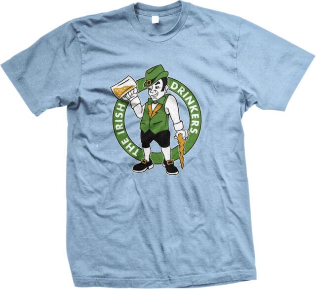 Boston Celtics Drunk Funny St Patricks Day Men/'s T-shirt The Irish Drinkers