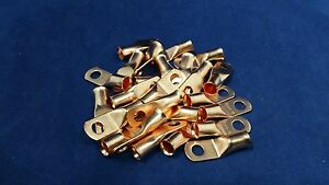 """The Install Bay CUR414 4 Gauge 1//4/"""" Copper Ring Terminal 25 Pieces"""