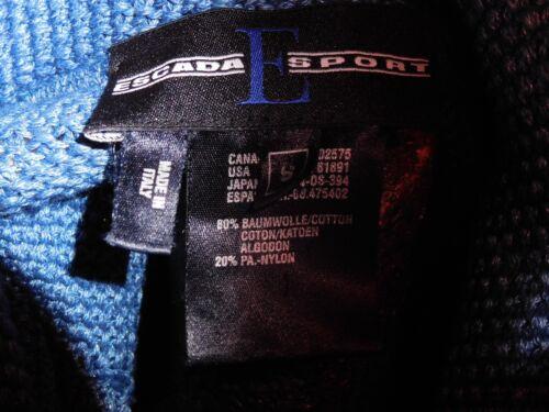 Cotone Vintage Escada S Giacca Maglione In Italia Cardigan Maglia Sport Lavorato EBq4gBp