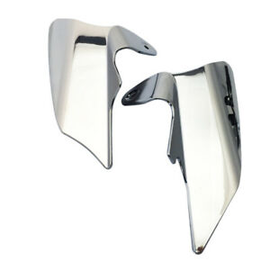 Chrome Reflective Saddle Shield Air Heat Deflector for 97-07 Harley Touring FLHX