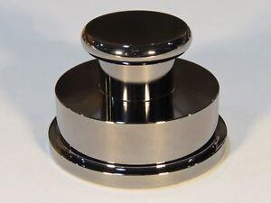 Solid-Messing-Plattenspieler-Schallplatte-Stabilisator-Schelle-Gewicht-chrom-Patrone-Winkelmesser