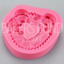 Textured Sleepy Bears Silicone Mould Fondant Icing Cake Cupcake Topper