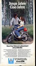 Vespa-- Junge Jahre Ciao Jahre-- unbeschwert und problemlos --Werbung von 1980