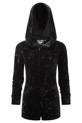 KILLSTAR VELVET RITUAL ROMPER HOODIE JUMPSUIT WITCH GOTHIC WICCAN OCCULT FETISH