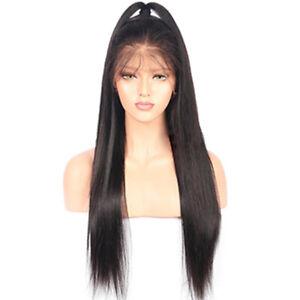 Image is loading Adjustable-18in-Women-Long-Brazilian-Black-Straight-Hair- 791ae61782