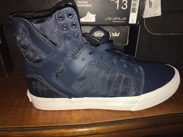SUPRA Caylor Schuhe sneaker stiefel SKYTOP Navy neu Blau/Weiß Gr:47,5 US:13 neu Navy 76ab99
