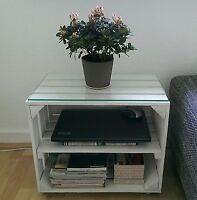3x Weiße Obstkisten Mit Zwischenboden, Regal,bücherregal, Holzkiste