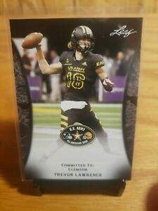 Trevor Lawrence 2018 Leaf Army #55 Clemson His 1st Ever Rookie Card RC SP