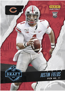 PRESALE 2021 Panini Instant Justin Fields Rookie Draft Night #?? Overall Pick RC