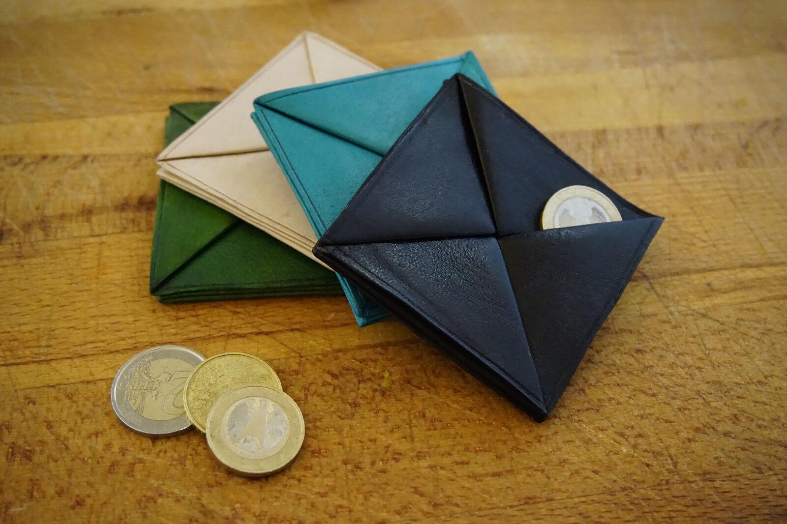 Echtleder Geldbeutel, versch. Farben, Handarbeit