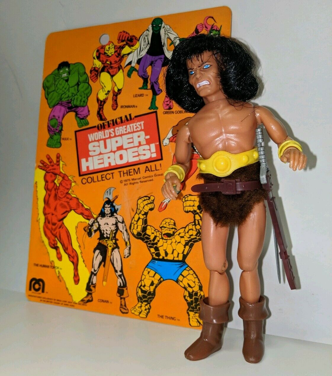 Vintage Mego WGSH 8  World's Greatest Super Heroes Conan the Barbarian with Card