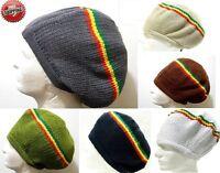 Africa Striped Jamaica Rasta Dread Lock Beret Tam Rastafari Knitted Hat Reggae