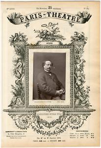 Lemercier-Paris-Theatre-Alexandre-Dumas-fils-1824-1895-ecrivain-Vintage-alb