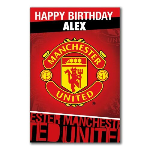Personalised Birthday Card CREST Manchester United F.C