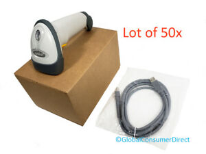 Lotto Di 50x Symbol Motorola LS2208-SR20001 1D Laser Barcode Scanner + Nuovo USB