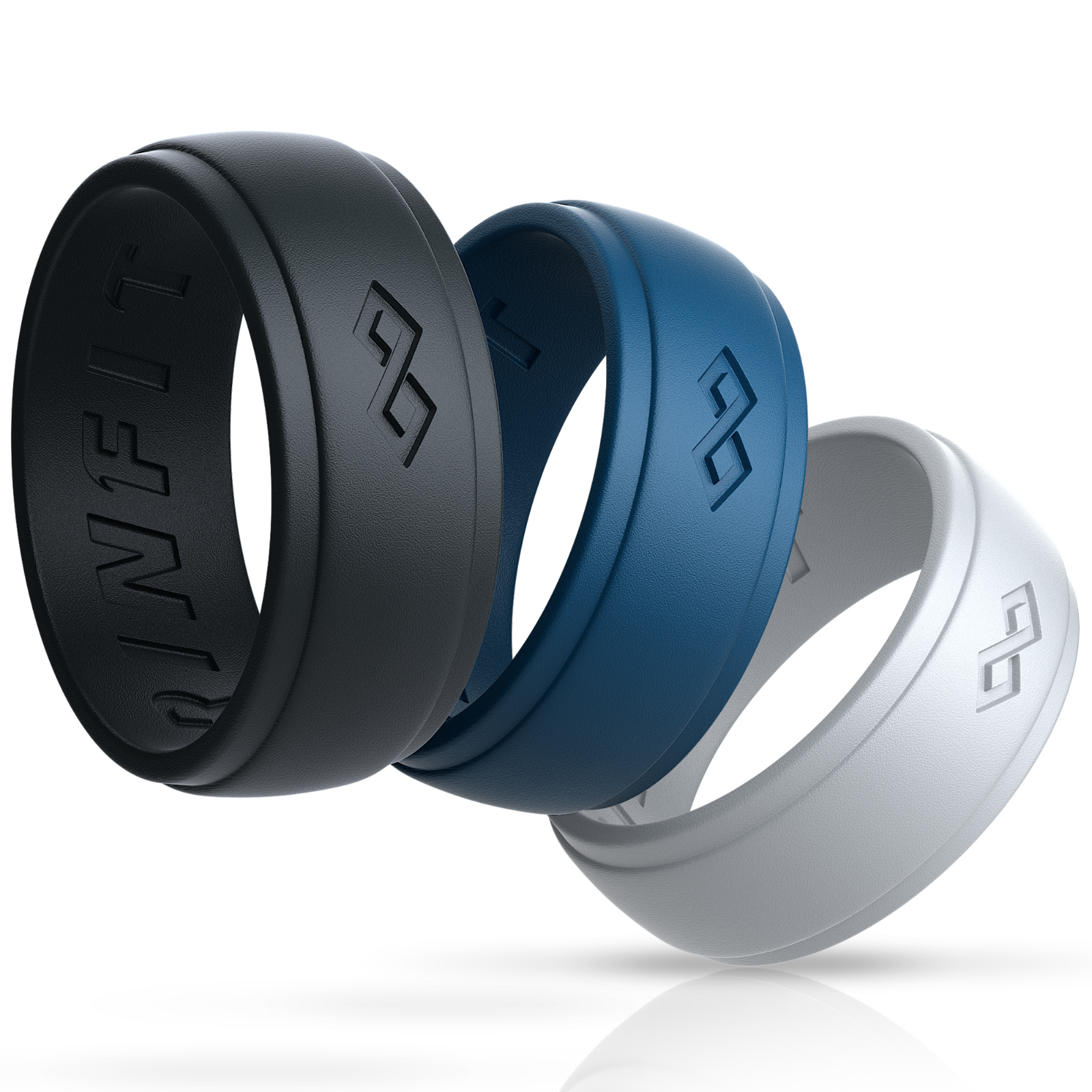 Soft Silicone Wedding Ring Men Women Fleible Rubber Engagement Band Size 6-12#