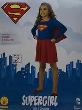Halloween Girls Supergirl Blue & Red Dress Costume Size Medium 8-10 Ages 5-7 NWT