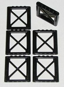 LEGO-LOT-OF-6-NEW-BLACK-1-X-6-X-5-GIRDER-SUPPORTS-CITY-TOWN-HOME-BUILDING-PARTS