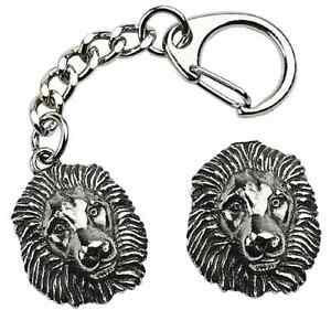Lion-Head-Key-ring-And-Pin-Badge-Boxed-Gift-Set-Handcrafted-In-Pewter