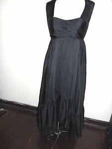 WAYNE-COOPER-silk-DRESS-size-1-S-8-NEW-amp-tags-700-black-maxi-formal-evening