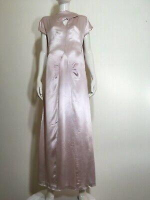 Pale Pink Satin Long Vintage Dress