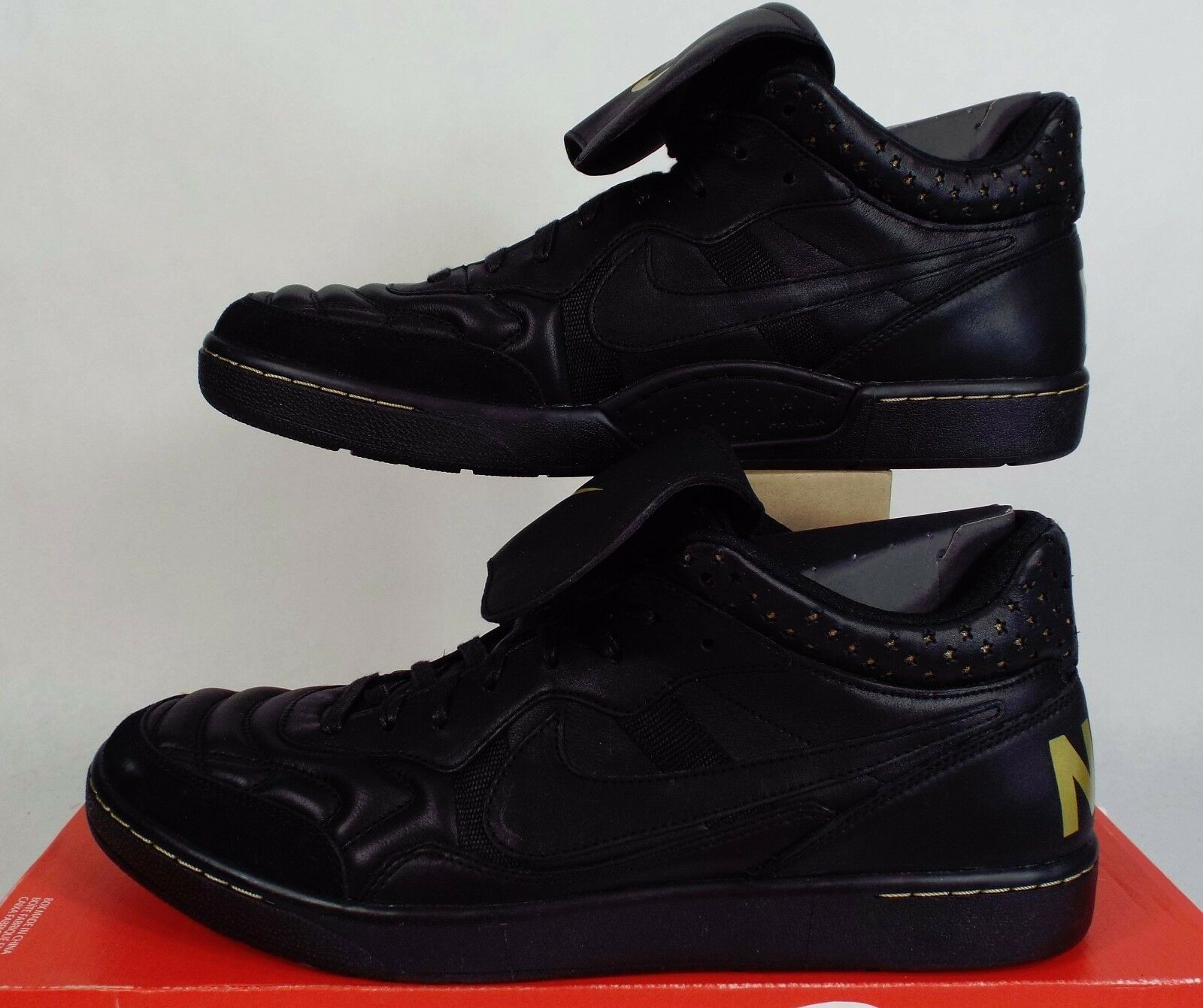 New homme 14 NIKE FC Tiempo Premier 94 Mid FC NIKE Blk Gold Leather chaussures 125 685205-001 b5f93e