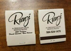 Details About Set 2 Vintage Rienzi Creole Cajun Restaurant Matchbooks New Orleans Louisiana