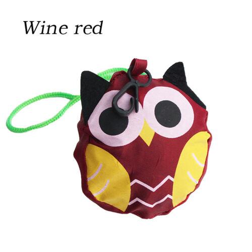Details about  /Cute Shopping Bag Owl Folding Tote Bag Pouch Reusable Portable Handbag Travel CA