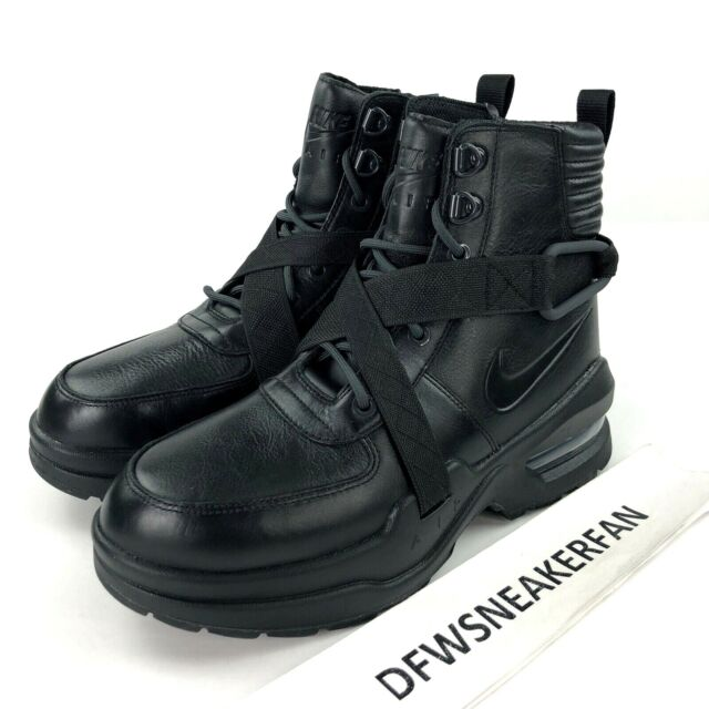 Size 10 Womens Nike Air Max Goadome Anthracite BOOTS Sneaker Black Leather