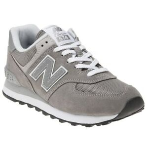 new concept 80db7 b1bb7 Details about New Mens New Balance Grey 574 Suede Trainers Retro Lace Up