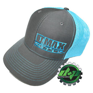 d2538eaa59a DMAX Diesel snap back trucker ball cap hat BLUE summer mesh Chevy ...