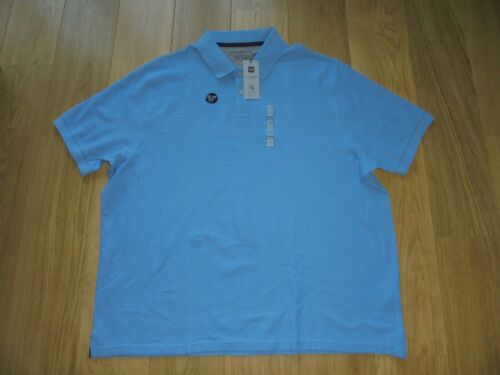 M/&S MARKS /& SPENCER BLUE COOL COMFORT SLIM FIT POLO T-SHIRT UK SIZE XXX LARGE