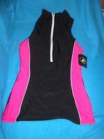 Athletech Women's Pink/black Zipper Top - Size 6 - Brand W/tag