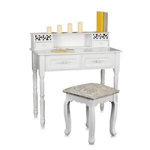 Toeletta antico bianco decorazioni tavolino da trucco for Decorazioni da tavolo