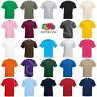 Fruit of the Loom Mens Womens FOTL 100% Cotton Plain Blank Tee T-Shirt