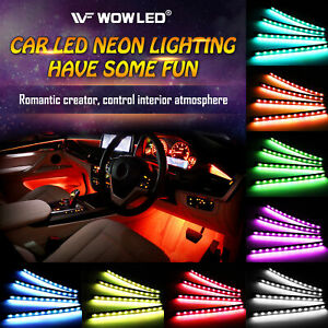 Wowled 7900960 Car LED Strip Lights 4 Pcs