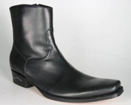 7438 Sendra Boots Schwarz Westernstiefelette Cowboystiefelette