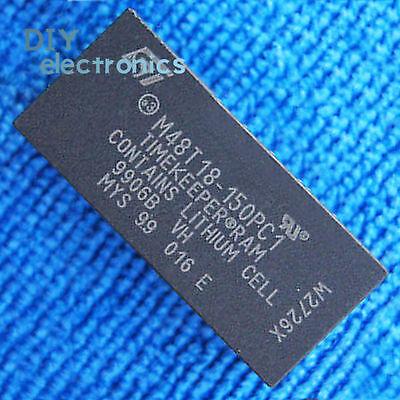 5PCS  M48T18-100PC1 DIP-28 64 Kbit 8Kb x 8 TIMEKEEPER SRAM