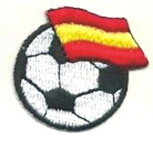 "1 1/2"" Soccer Football Spain Fútbol Bandera Flag Embroidery Patch"