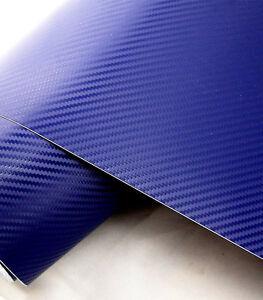 Car Moto Atv 3d Blue Carbon Fiber Texture Decorative Decal Release Sticker Wrap Ebay