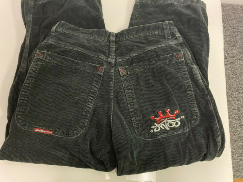 VTG Jnco Jeans Corduroy Pants 34x32 Black Crown
