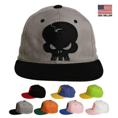 Skull Cotton Snapback Hip-hop New Era Trucker Flat Bill Baseball Cap Men Women