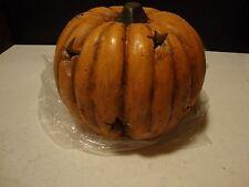 SALE /Country new burnt orange electric carved STARS pumpkin / decor light